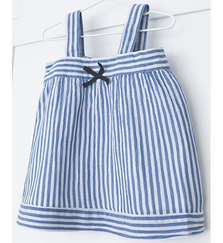 vestido bebe batela 2433 marino blanco 3