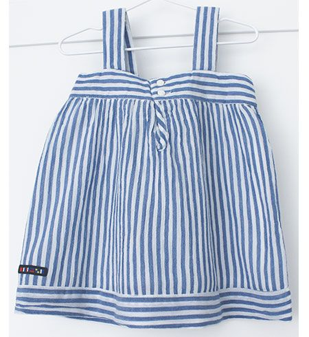 vestido bebe batela 2433 marino blanco 2