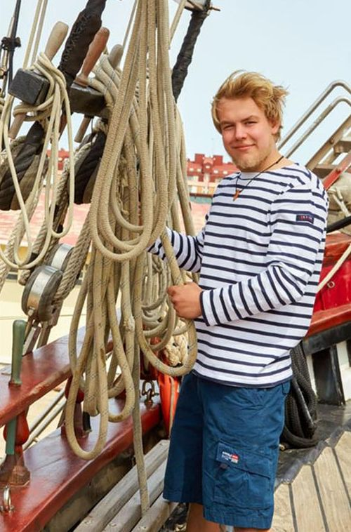 marsellesa manga larga hombre blanco marino batela nautico nuria 2104