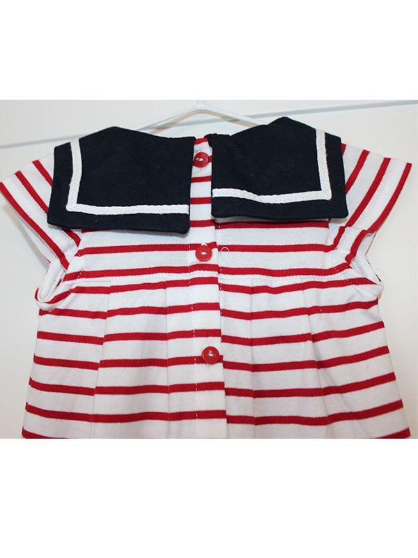 vestido bebe batela 2318 cereza rojo 7
