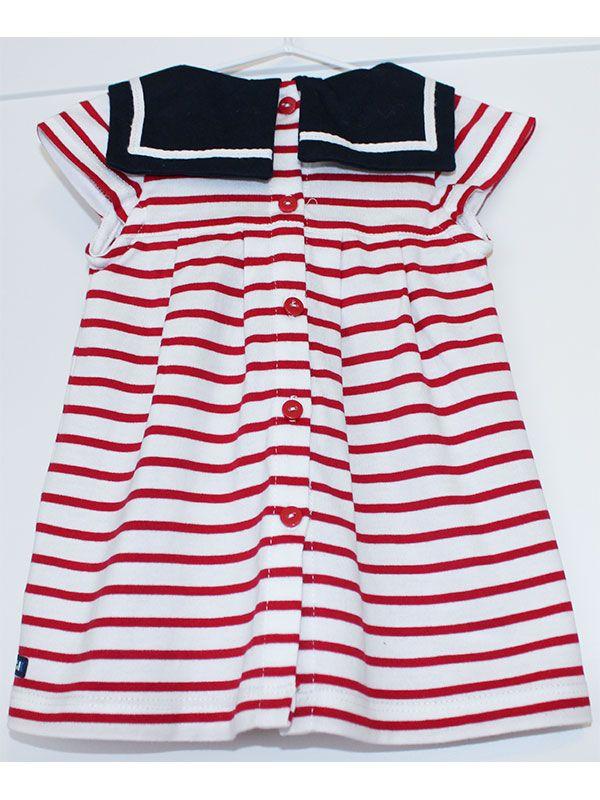 vestido bebe batela 2318 cereza rojo 6