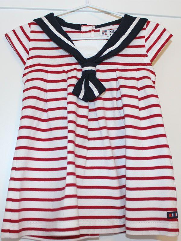 vestido bebe batela 2318 cereza rojo 2