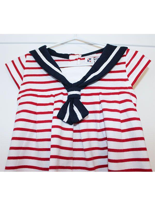 vestido bebe batela 2318 cereza rojo 4