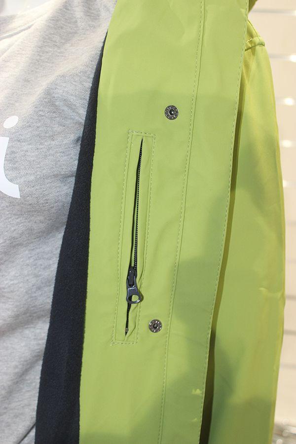impermeable mujer color verde pistacho batela nautico nuria 3001 bolsillo