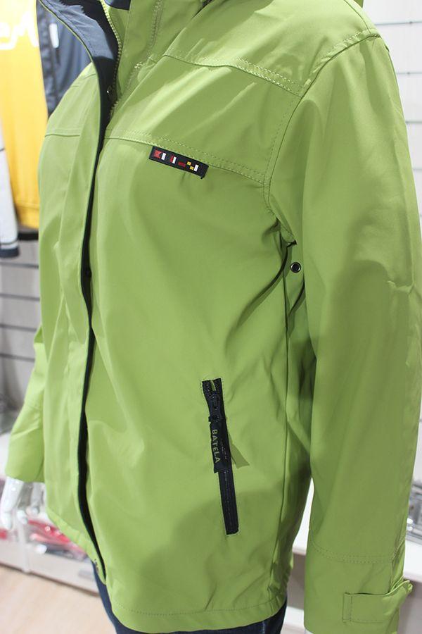 impermeable mujer color verde pistacho batela nautico nuria 3001 detalle