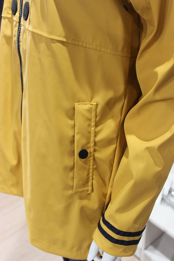 impermeable nautico mujer batela amarillo 3058 bolsillo