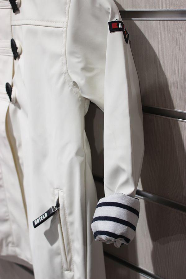 impermeable nina batela color blanco 3121 manga