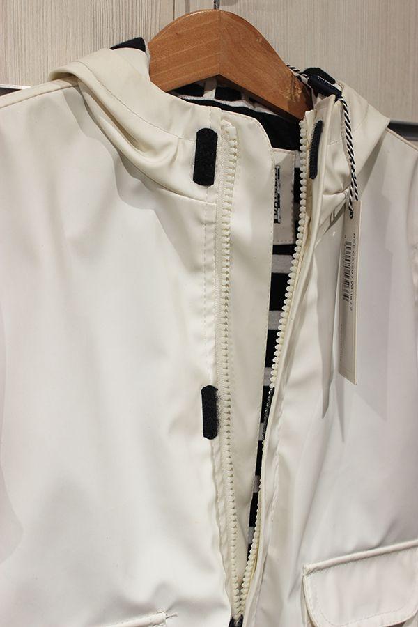 impermeable unisex ninos batela color blanco 3120 cremallera