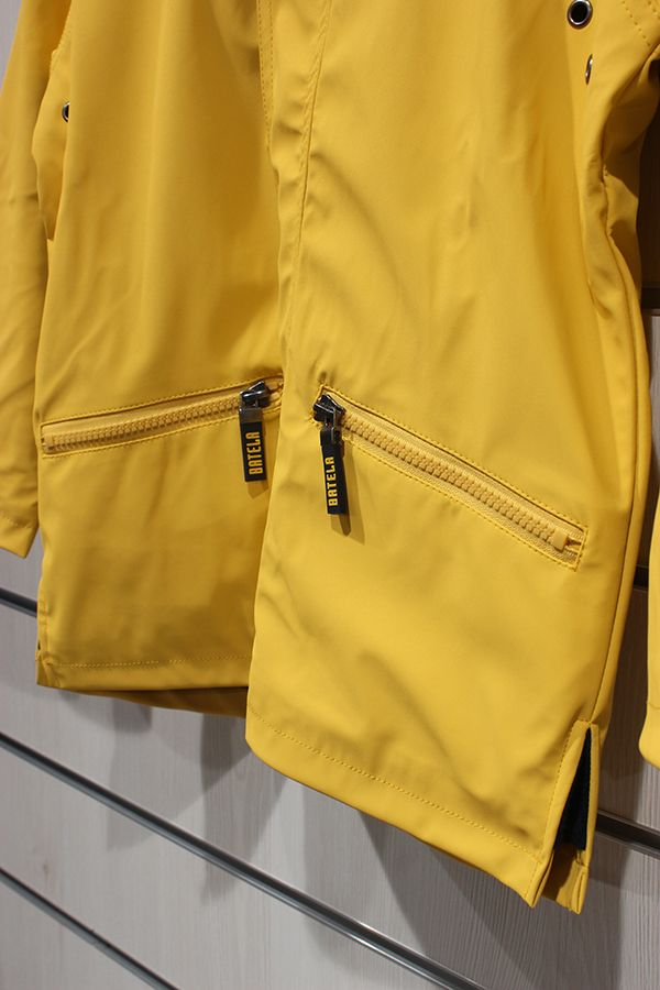 impermeable unisex para ninos con forro polar batela amarillo 3102 bolsillo