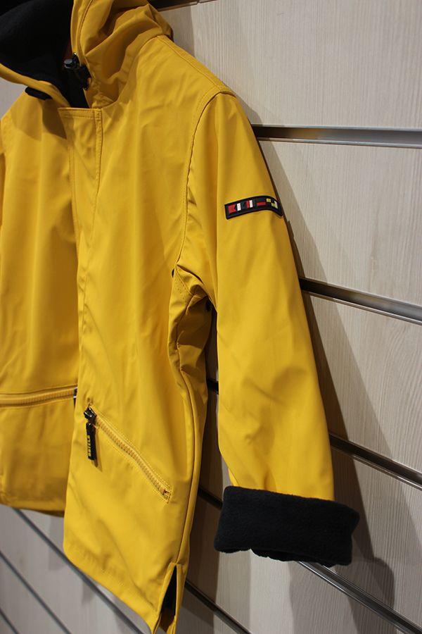 impermeable unisex para ninos con forro polar batela amarillo 3102 manga