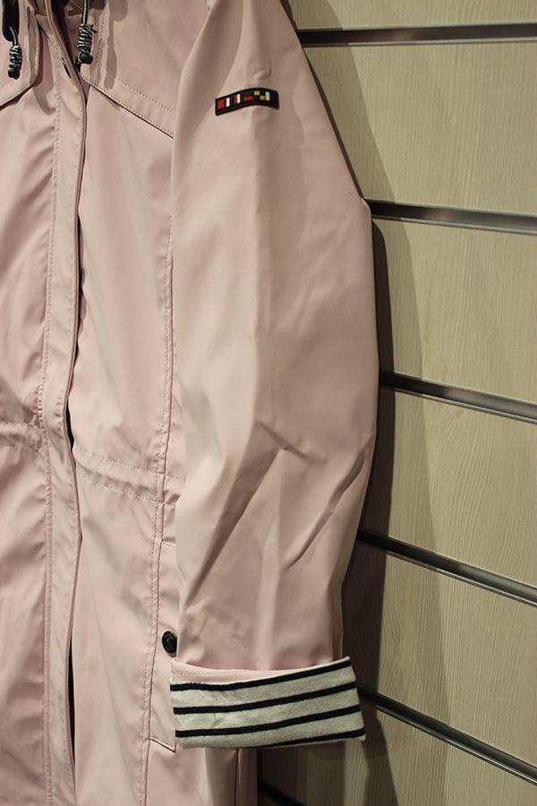 impermeable nautico mujer largo batela rosa 3044 lateral