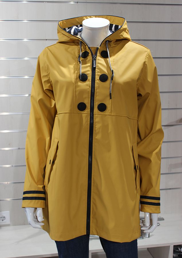 impermeable nautico mujer batela amarillo 3058