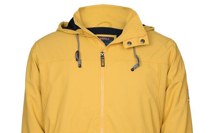 impermeable 3024 amarillo cuello nautico nuria