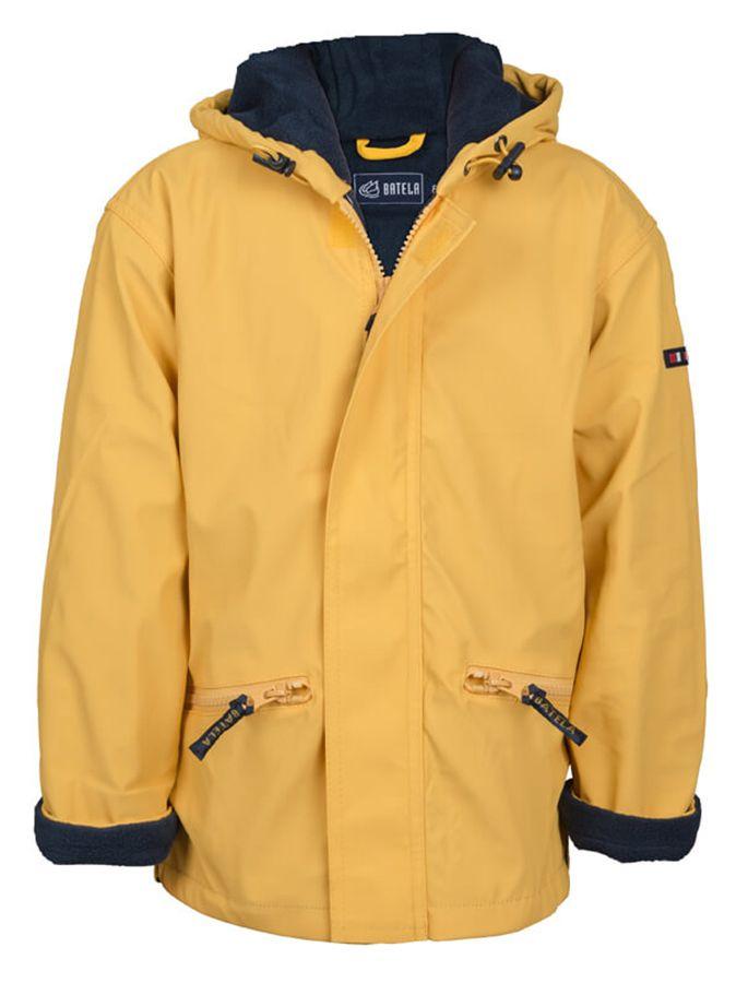 impermeable unisex para ninos con forro polar batela amarillo 3102