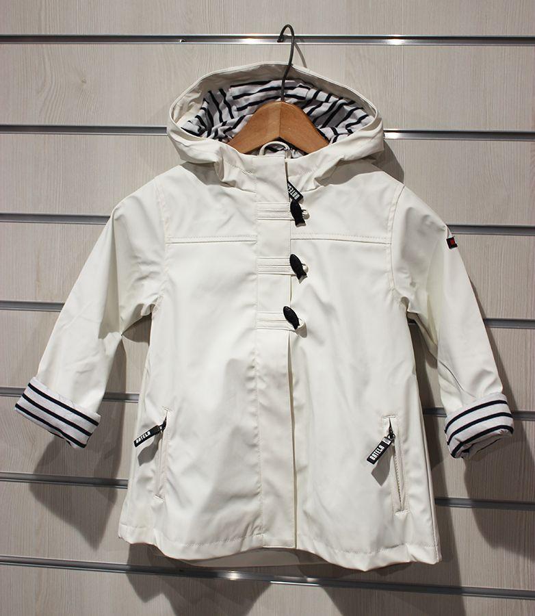impermeable nina batela color blanco 3121