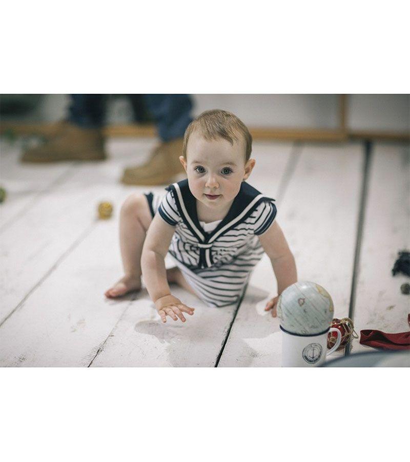 vestido bebe batela 2318 blanco marino 2