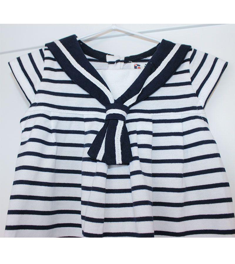 vestido bebe batela 2318 blanco marino 4