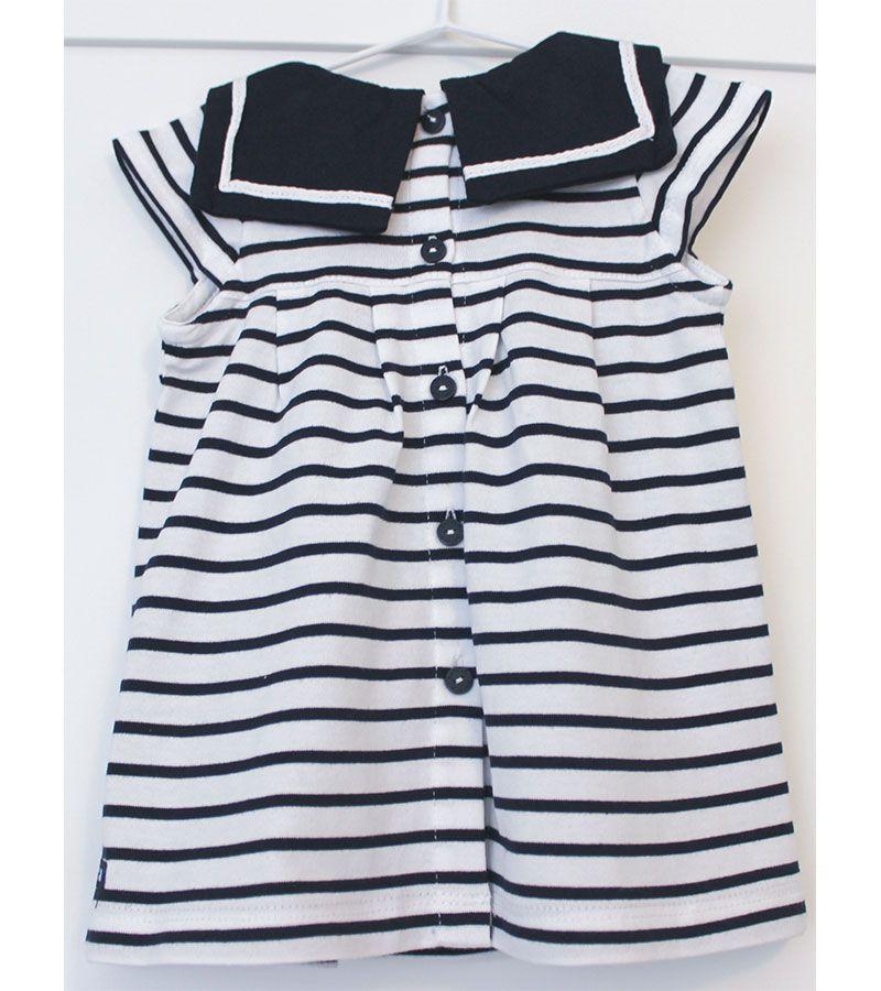 vestido bebe batela 2318 blanco marino 6