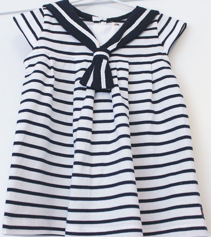 vestido bebe batela 2318 blanco marino 3