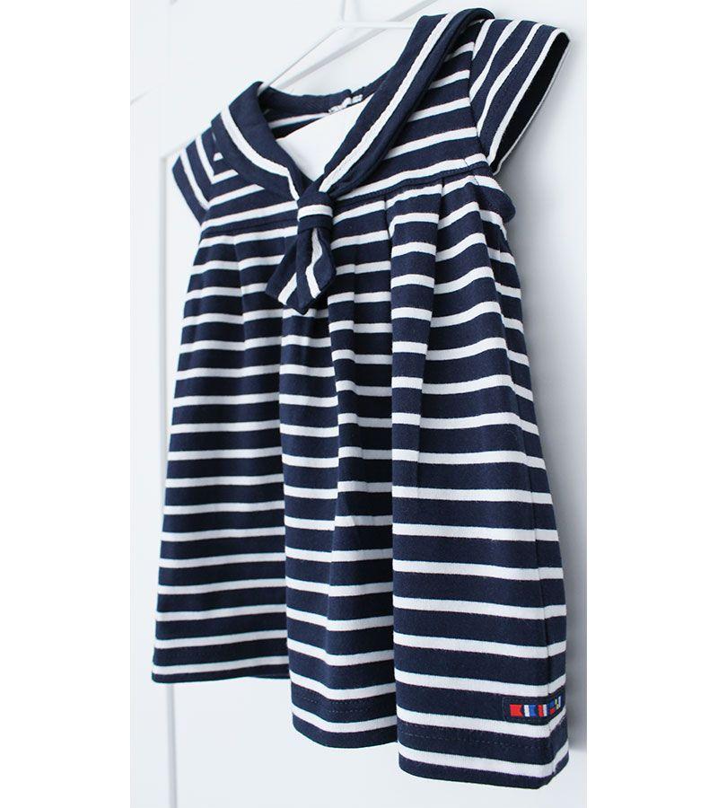 vestido bebe batela 2318 marino blanco 4