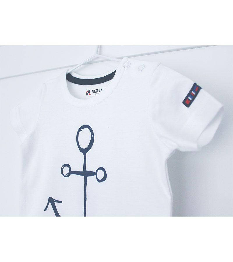 camiseta bebe ancla batela 2300 blanco 3