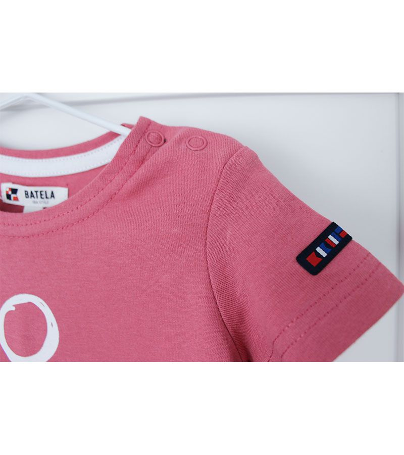 camiseta bebe ancla batela 2300 rosa 2
