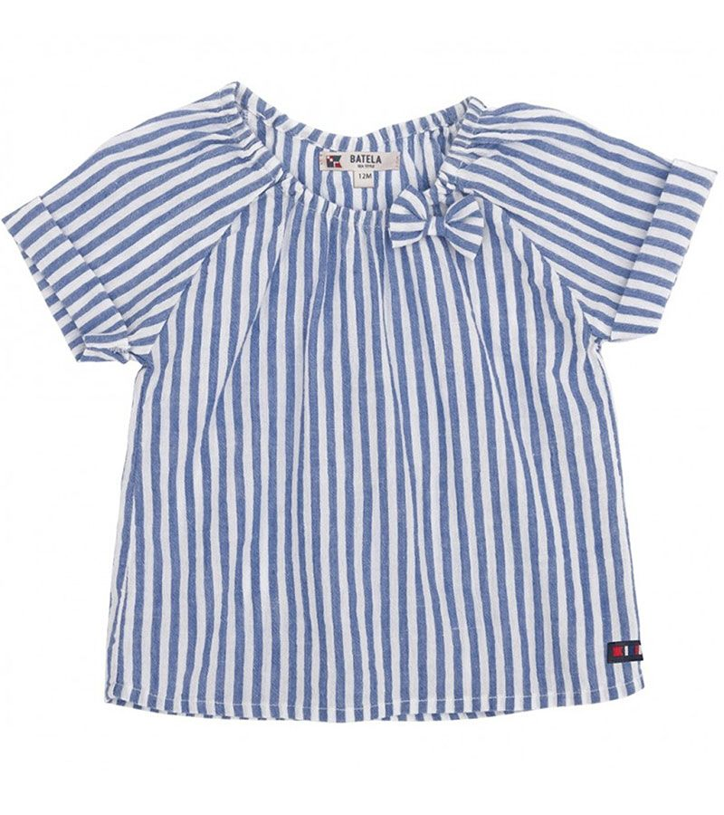 camiseta bebe batela 2432 blanco marino 1