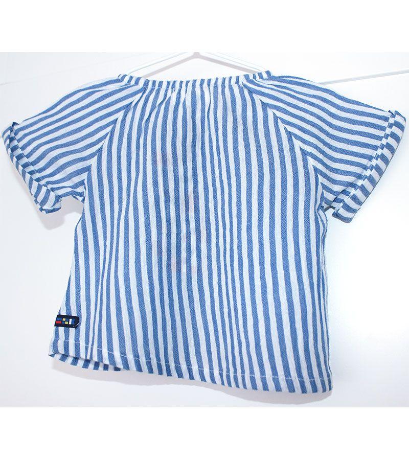 camiseta bebe batela 2432 blanco marino 2