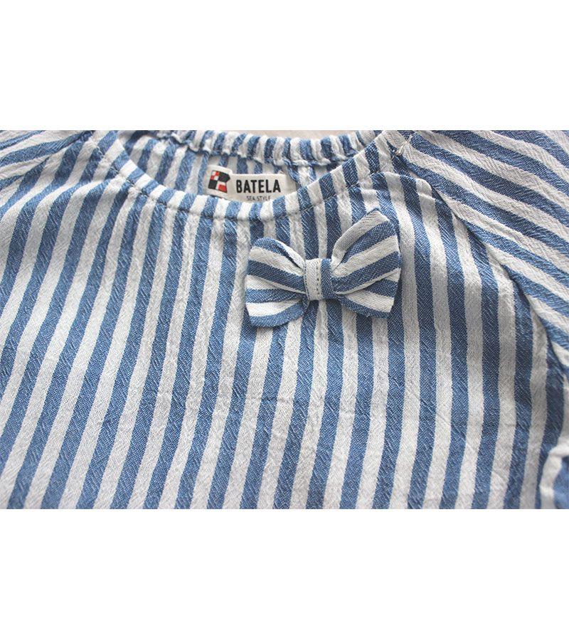 camiseta bebe batela 2432 blanco marino 3