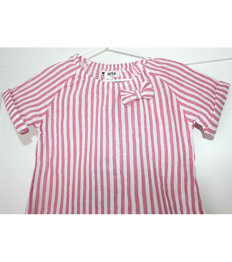camiseta bebe batela 2432 rosa 4