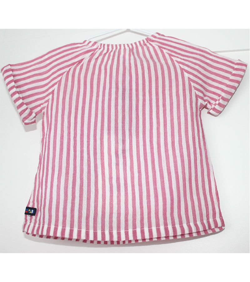 camiseta bebe batela 2432 rosa 3