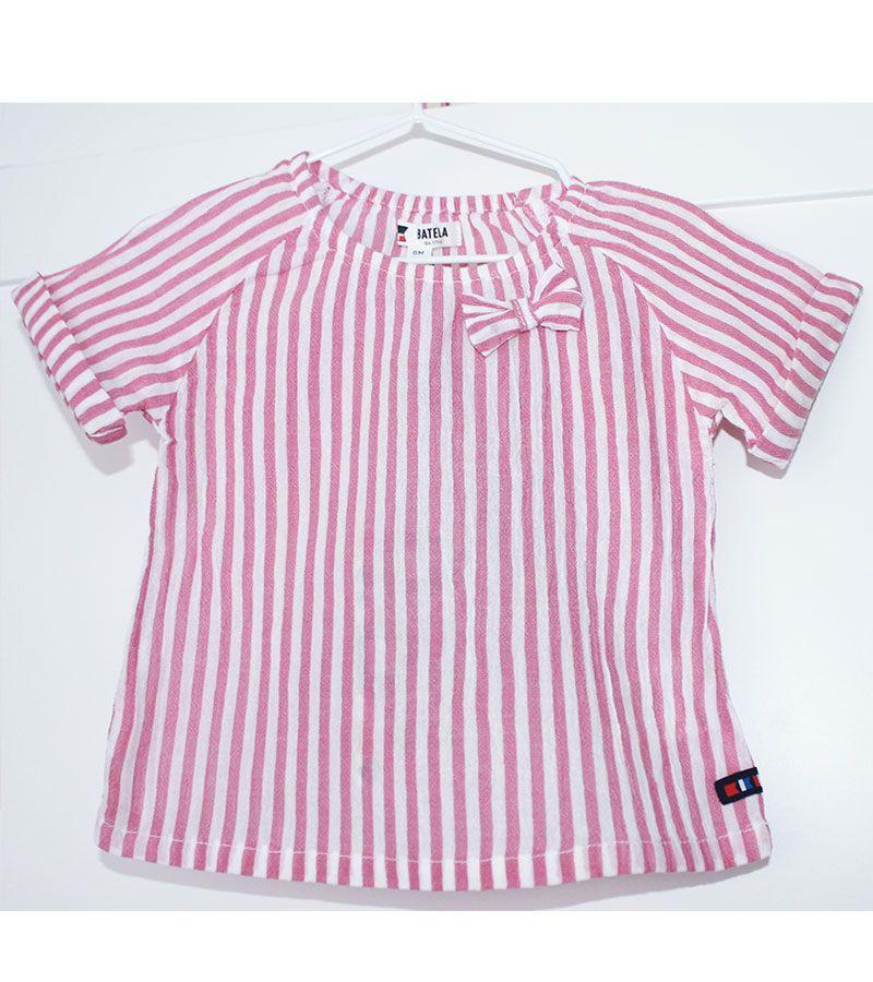 camiseta bebe batela 2432 rosa 1