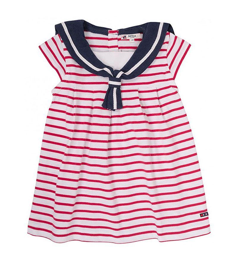 vestido bebe batela 2318 cereza rojo 1