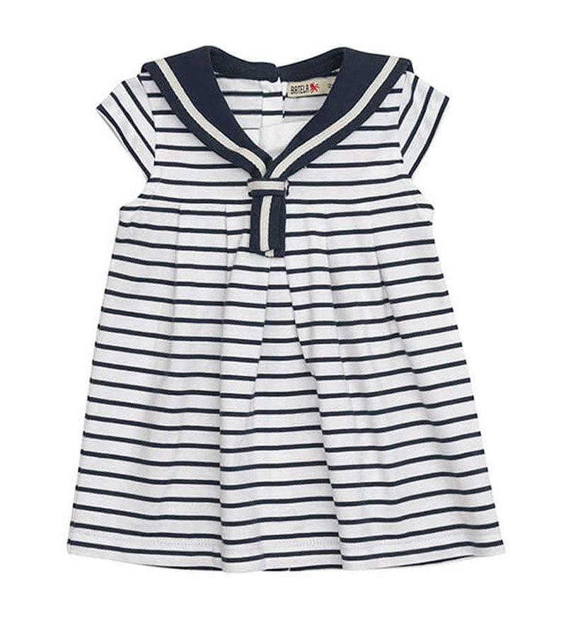 vestido bebe batela 2318 blanco marino 1