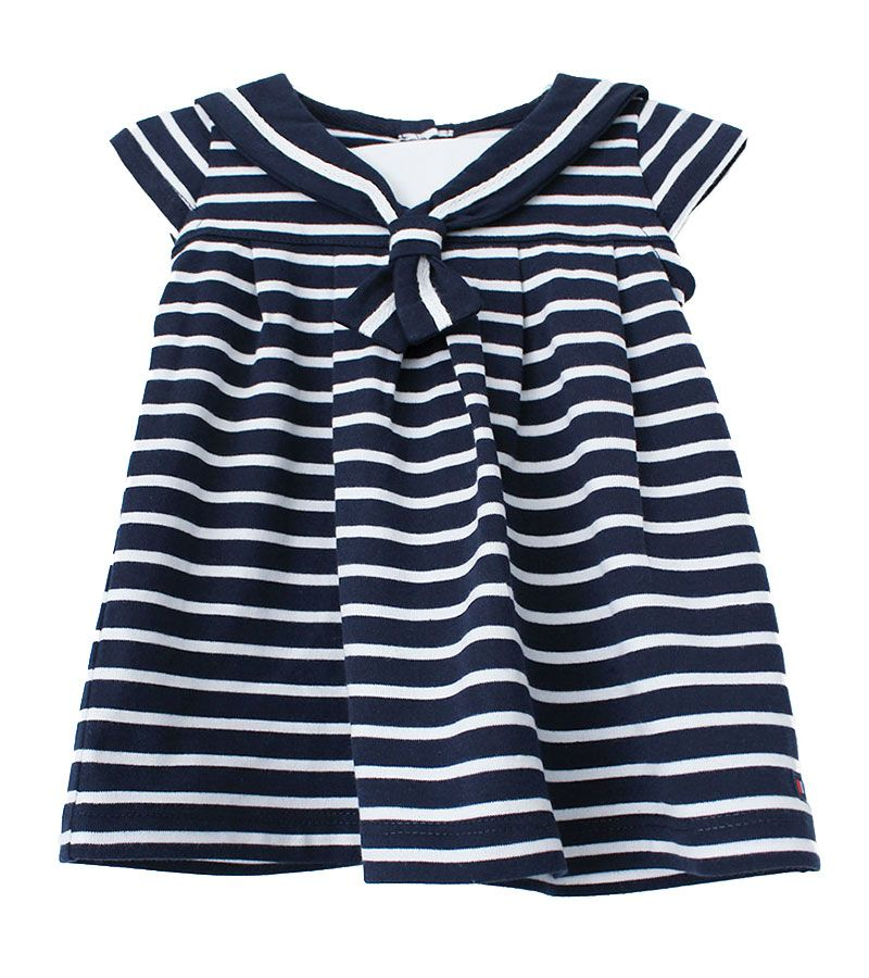 vestido bebe batela 2318 marino blanco 1