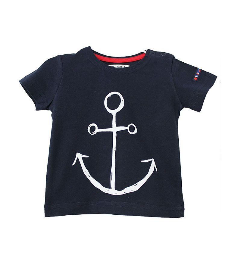 camiseta bebe ancla batela 2300 marino 1