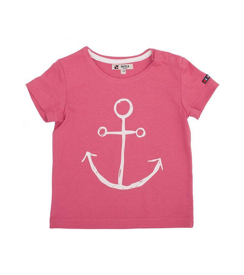 camiseta bebe ancla batela 2300 rosa 1