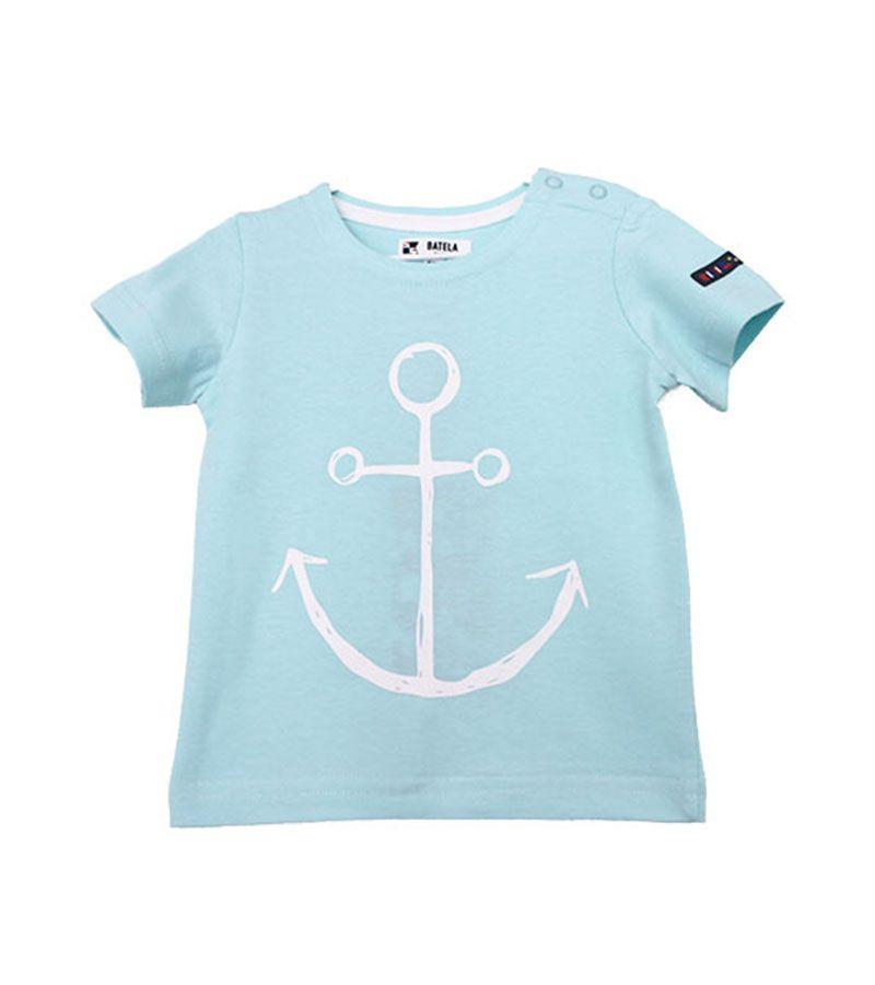 camiseta lisa ancla batela 2300 aguamarina 1