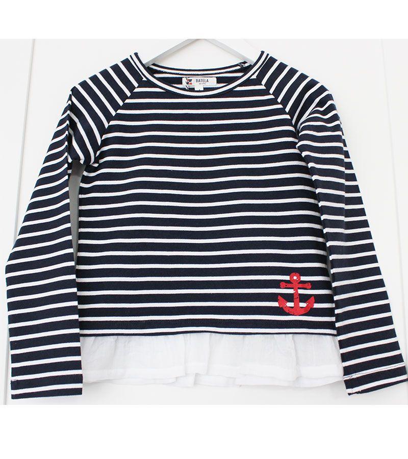 camiseta batela 2771 marinoblanco 1