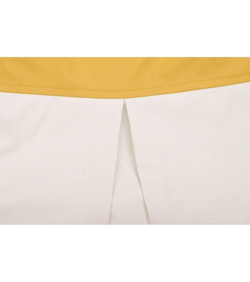 impermeable nautico mujer batela blanco y amarillo antiguo 3047 3