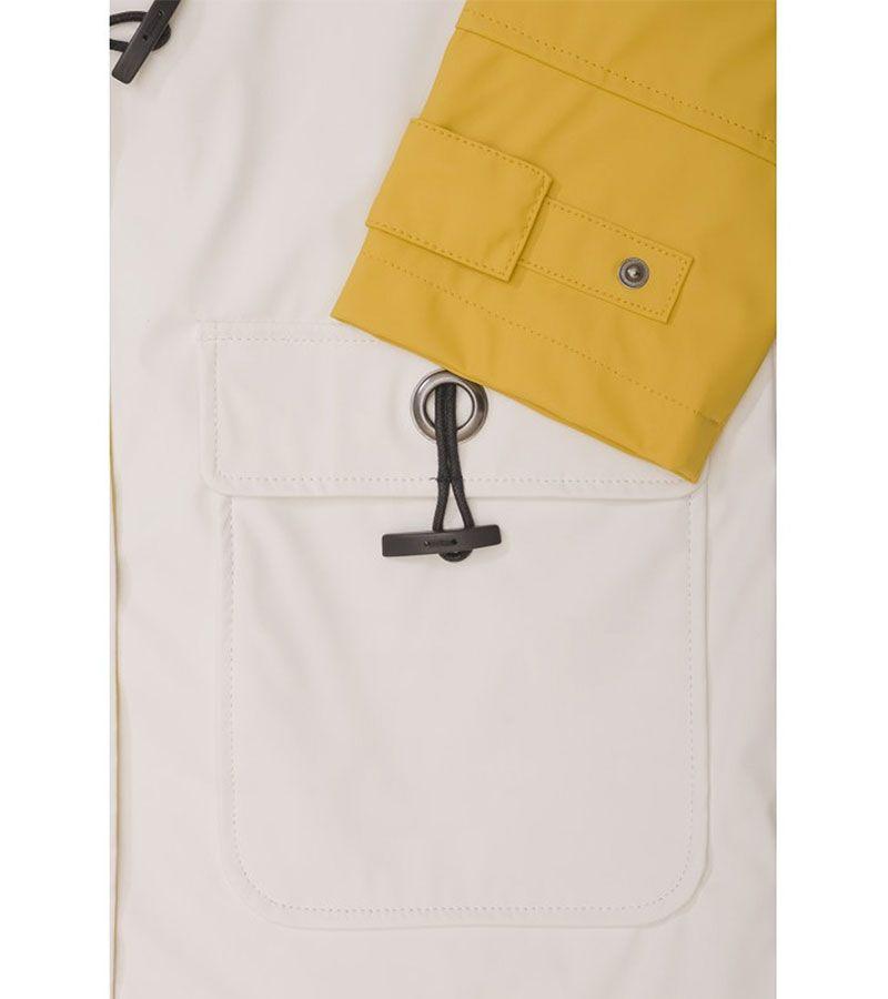 impermeable nautico mujer batela blanco y amarillo antiguo 3047 2