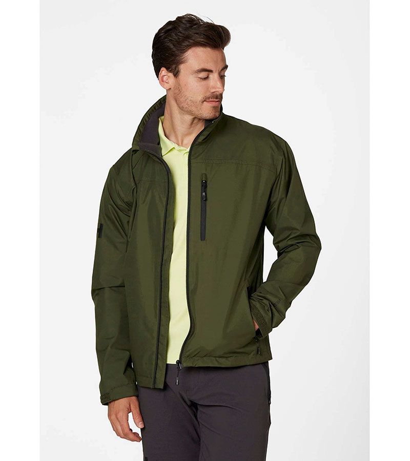 helly hansen crew jacket verde 2