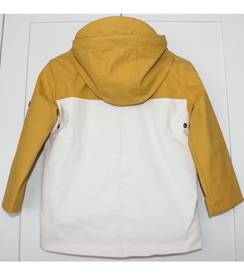 impermeable unisex batela 3123 amarillo blanco 5