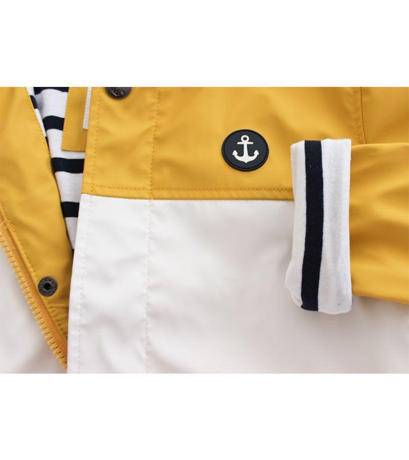 impermeable unisex batela 3123 amarillo blanco 3