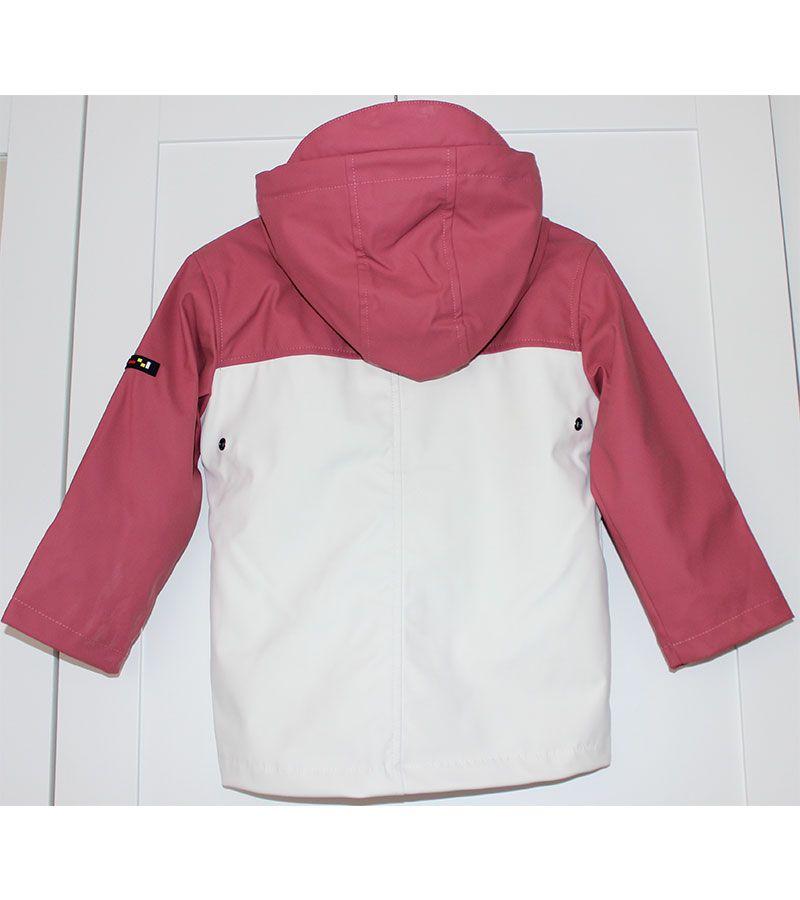 impermeable unisex batela 3123 rosa blanco 6