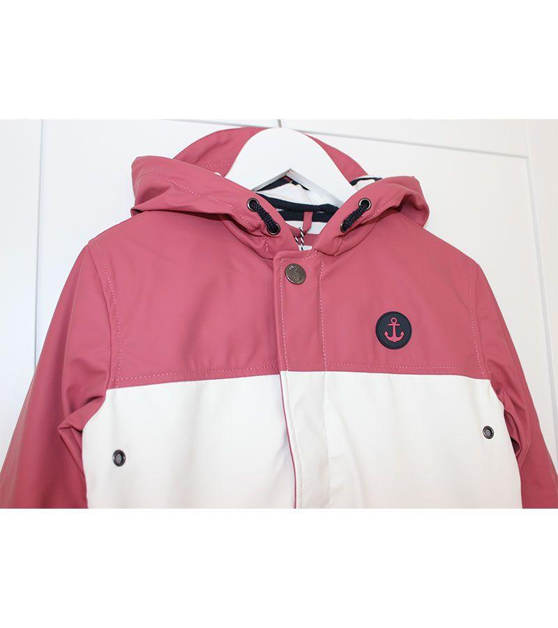 impermeable unisex batela 3123 rosa blanco 5