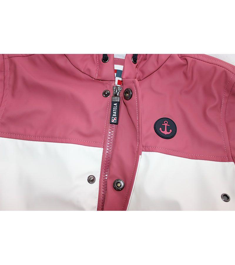 impermeable unisex batela 3123 rosa blanco 2