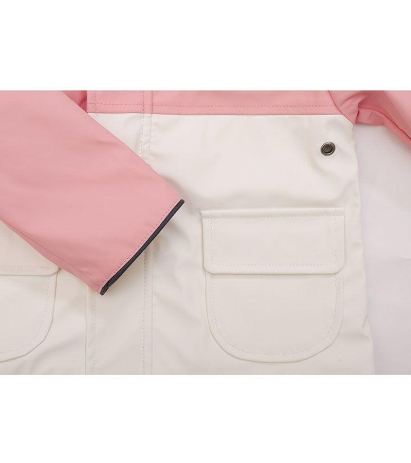 impermeable bebe batela 3119 rosa blanco 2