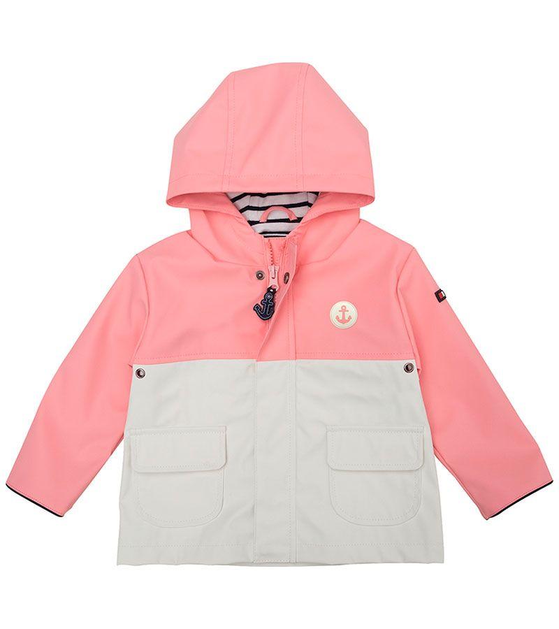 impermeable bebe batela 3119 rosa blanco 1