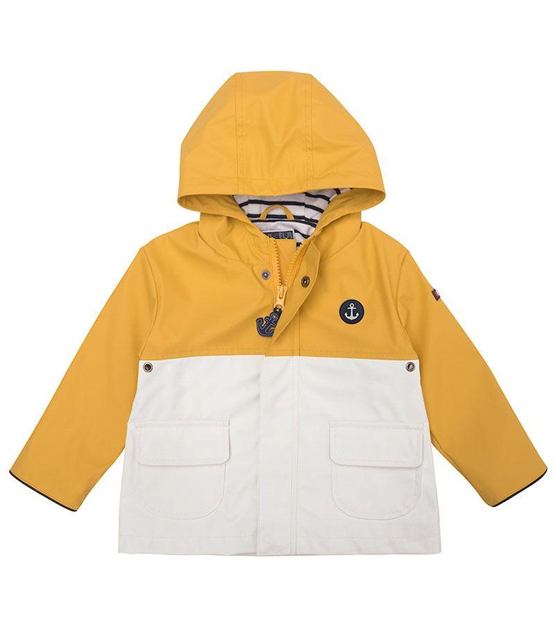 impermeable bebe batela 3119 amarillo blanco 2
